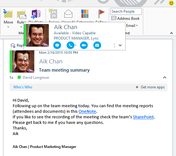 Skype for Business ist ein Teil von Office 365