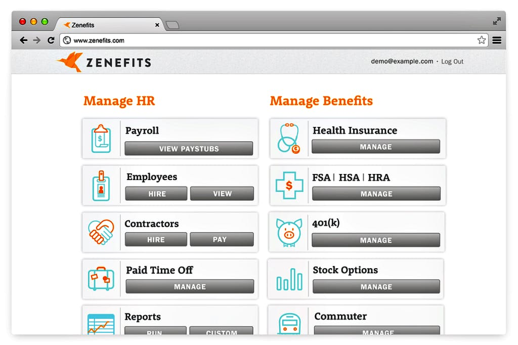 Zenefits HR-Automatisierungstool