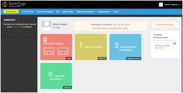 Sentrifugo Software für Personalverwaltung