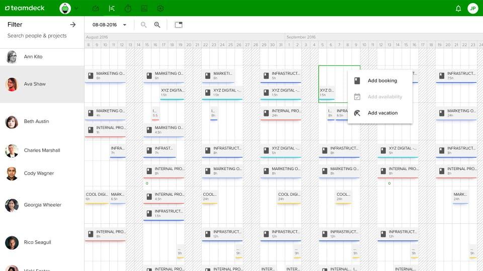 Teamdeck Software für Personalverwaltung