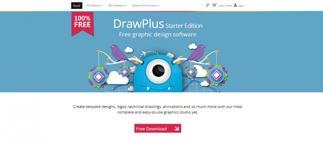 Eventmanagement Serif DrawPlus Starter Edition