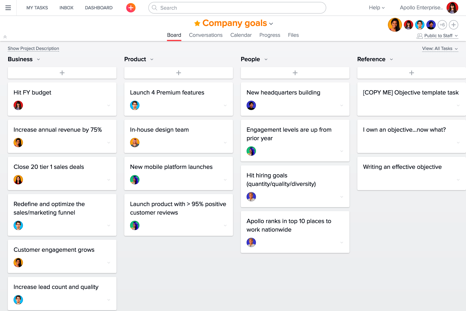 Trello-Alternativen Asana Projektmanagement Software
