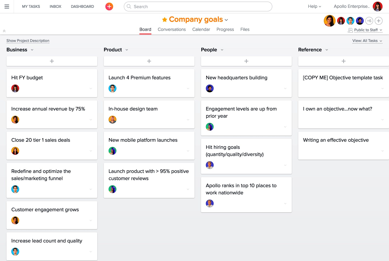 Trello-Alternativen Asana Projektmanagement Software