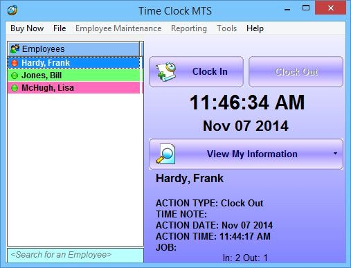 pointeuse en ligne gratuite gestion du temps Time Clock MTS