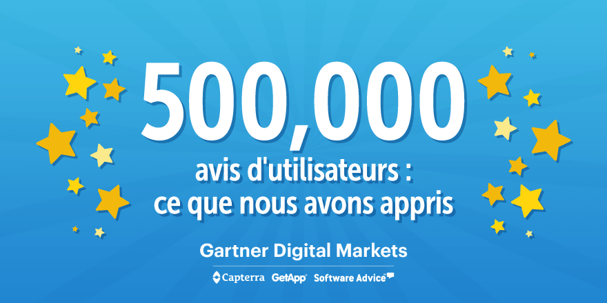 500 000 avis utlisateurs Gartner Digital Markets Capterra