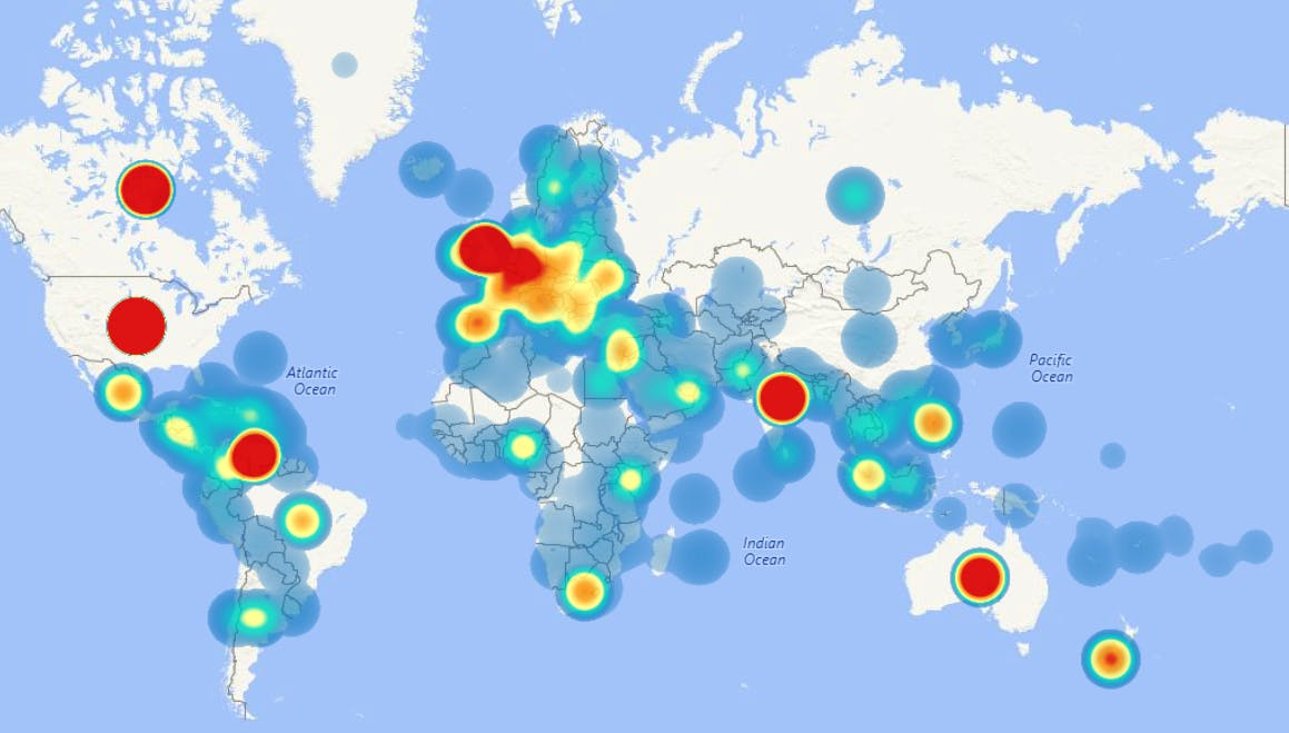 heatmap des avis utilisateurs publiés sur Gartner Digital Markets Capterra