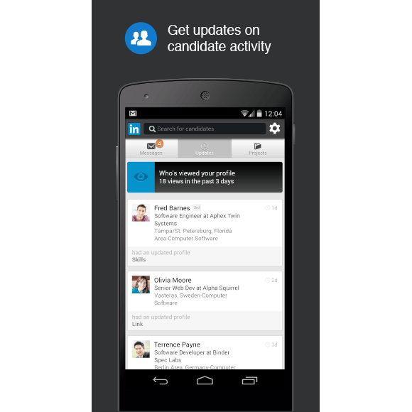 linkedin recruiter applis pour recruteurs