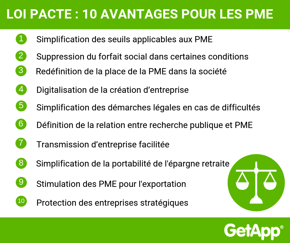 Advantages du Loi Pacte