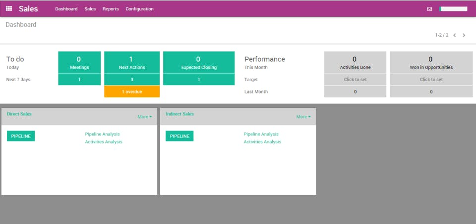 Odoo, logiciel comptable -interface Ventes