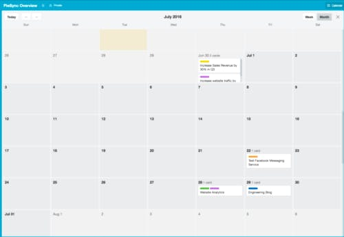 Trello vs Asana Kalender