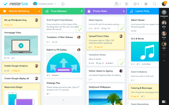 kostenlose und Open Source Projektmanagement-Tools MeisterTask