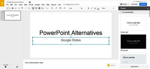 Kostenlose PowerPoint-Alternativen Google Slides