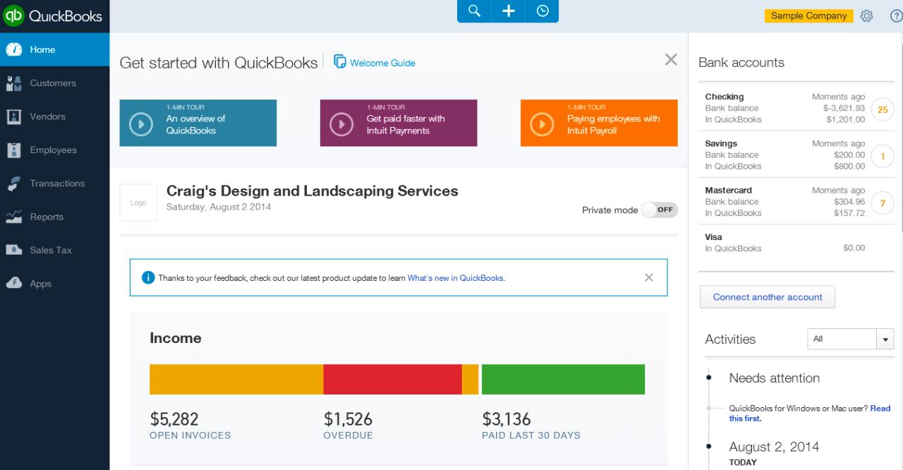 Software para financas QuickBooks Online