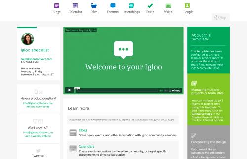 Sharepoint-Alternative Igloo