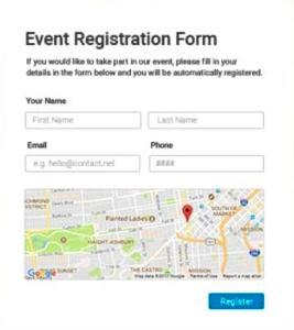 application organisation d'événement