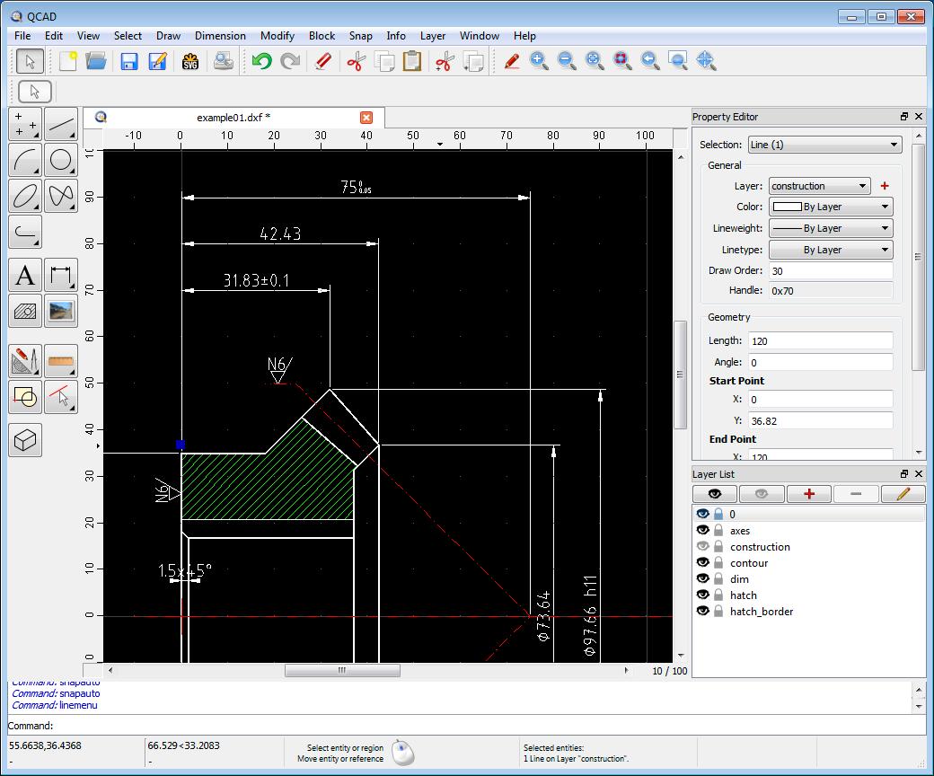 plateforme logiciel QCAD