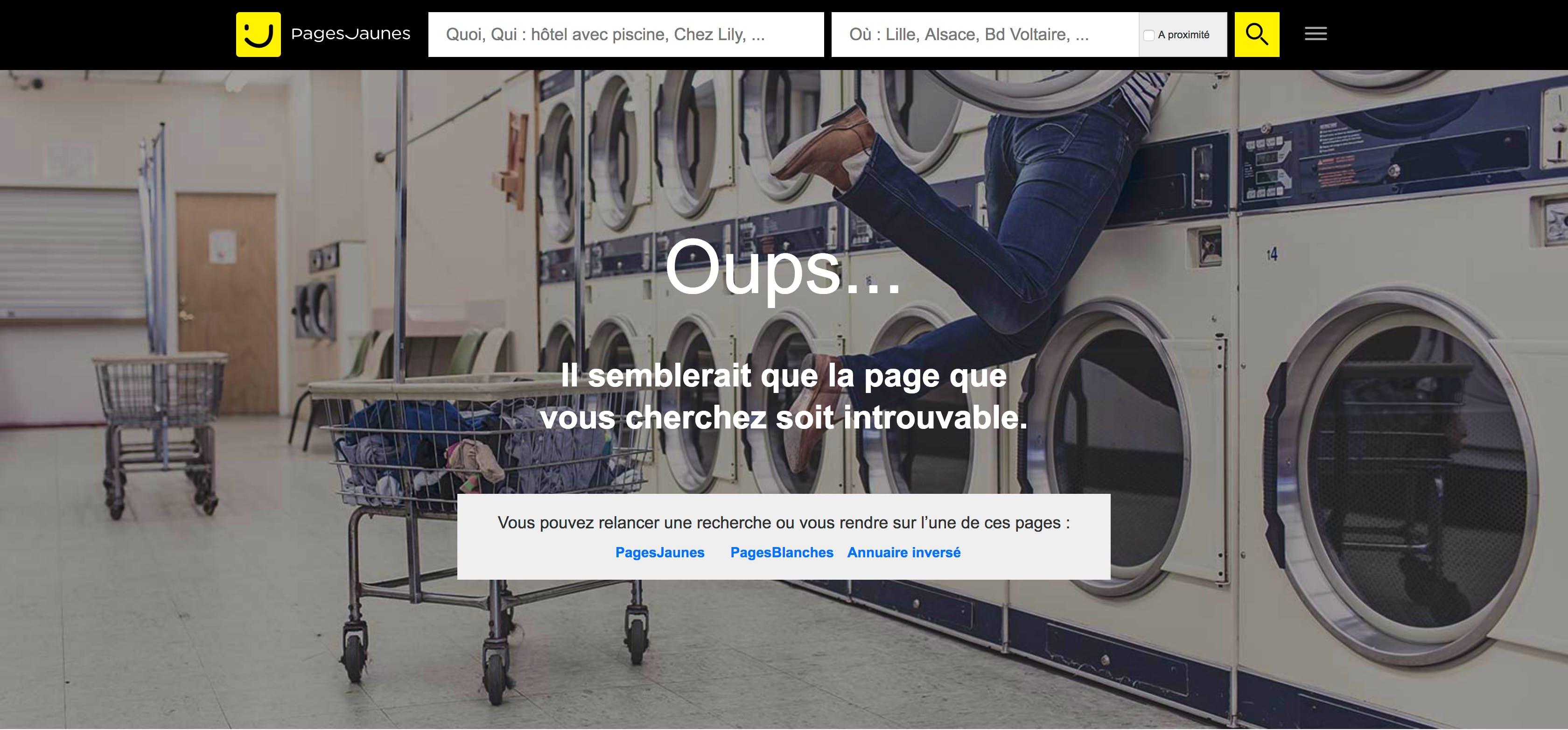 404 error page france