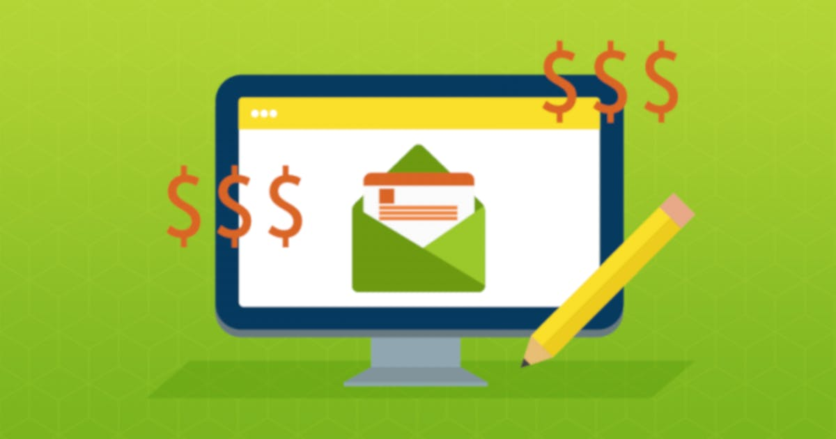 E-Mail auf einem Monitor