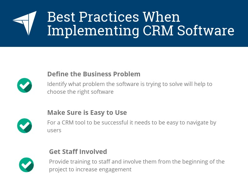 best practices to implement crm systems