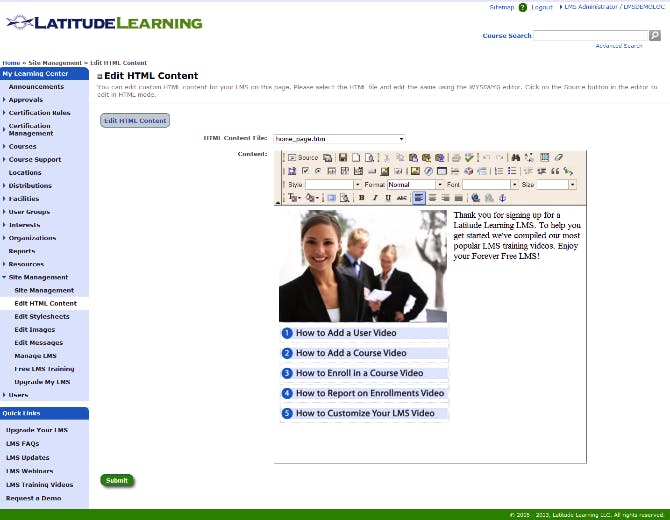 HTML Editor von Latitude Learning