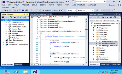 Captura de tela do Microsoft Visual Studio Community