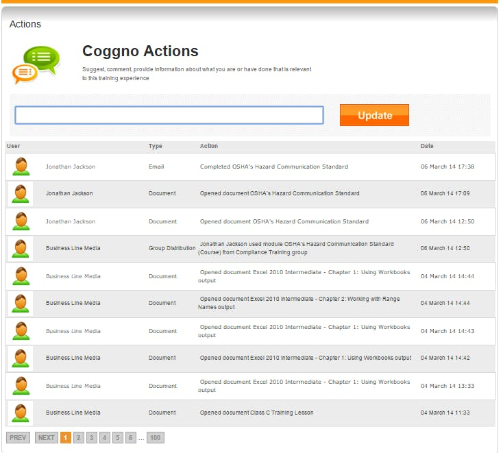 Screenshot Open-Source-LMS Tool Coggno