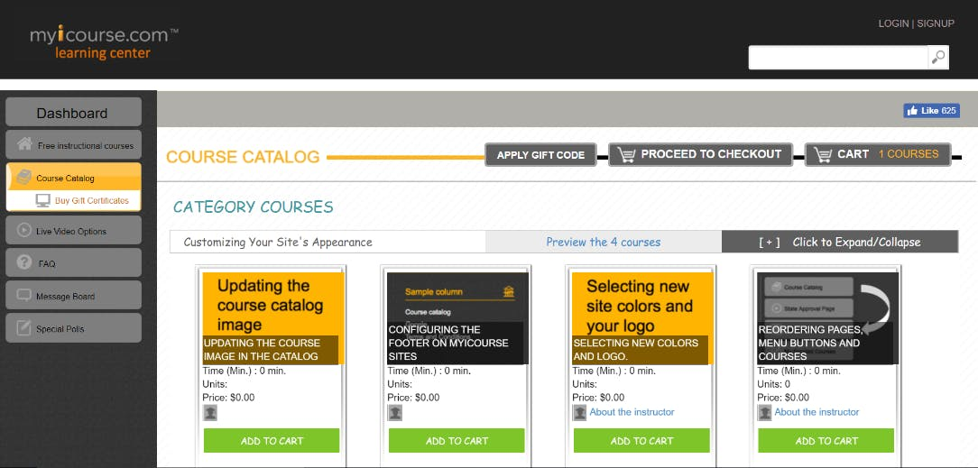 Screenshot Open-Source LMS Tool Myicourse