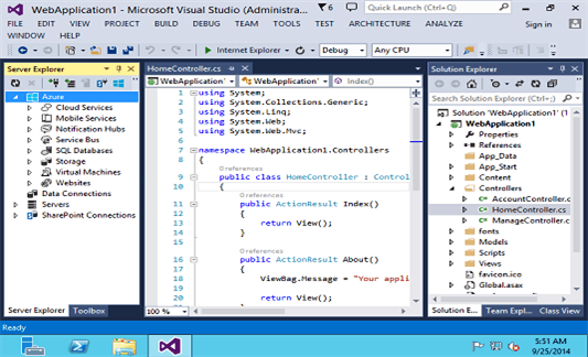 Screenshot kostenloser HTML Editor Microsoft Visual Studio
