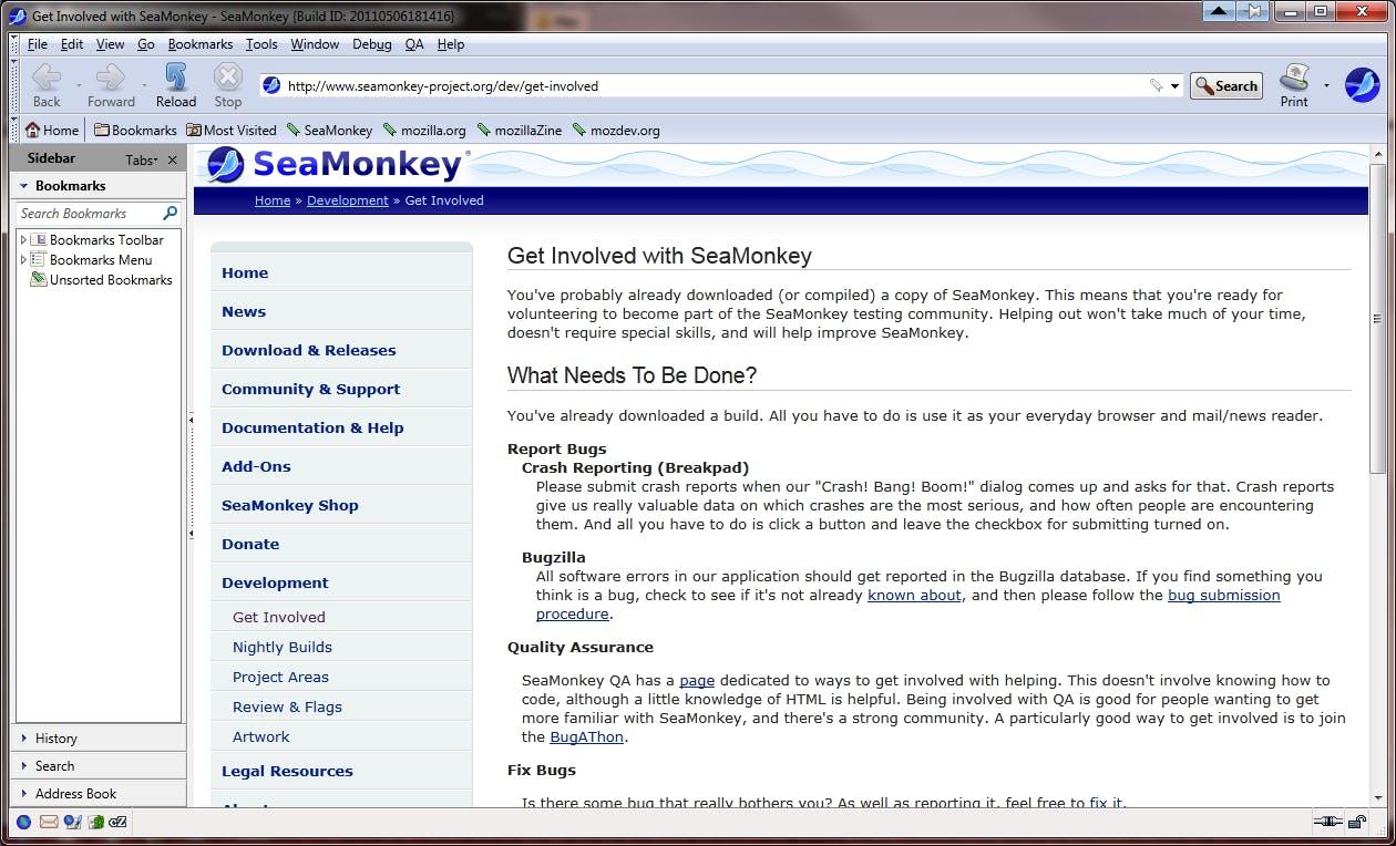 Screenshot kostenloser HTML Editor SeaMonkey