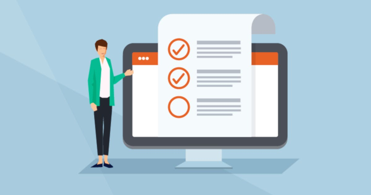 Checkliste auf Monitor zeigt GDT Methode