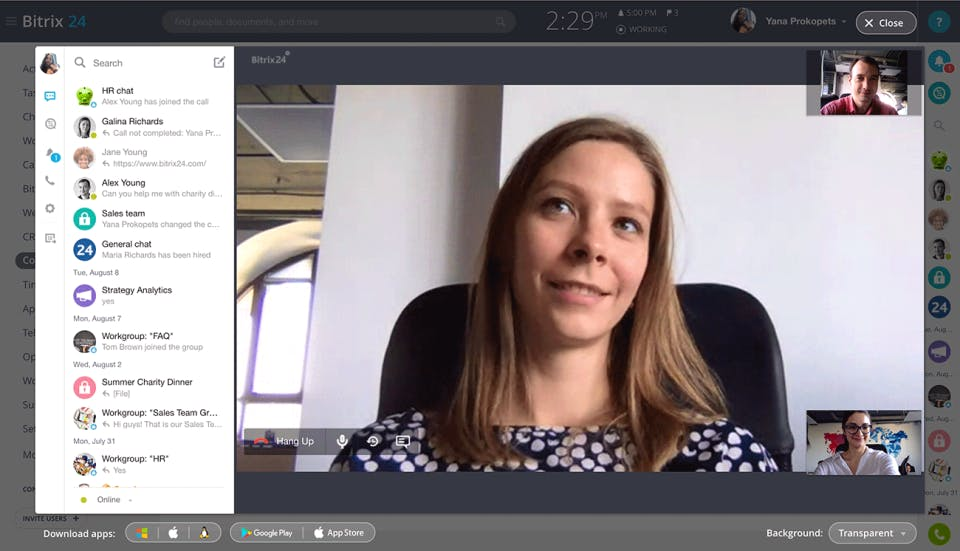 Open Source CRM Bitrix24 video