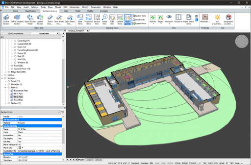 interface de BricsCAD