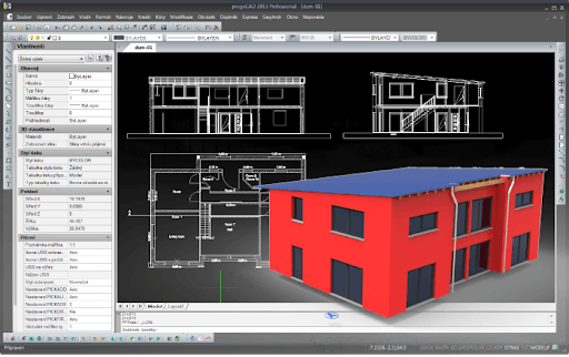 Interface de ProgeCAD