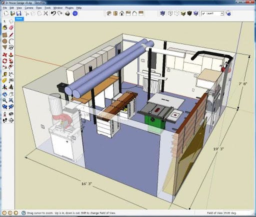 Interface de Sketchup