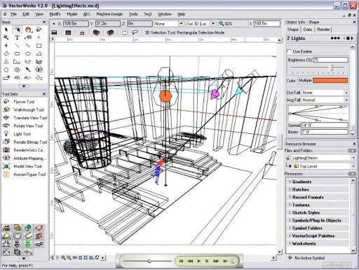 Interface de Vectorworks