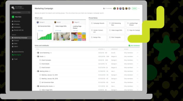 Evernote Business Best project management software for small businesses