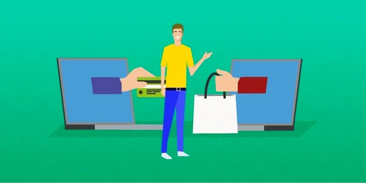 Online Einkauf Illustration