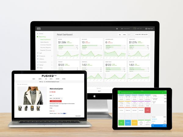 Vend point of sale software system screenshots