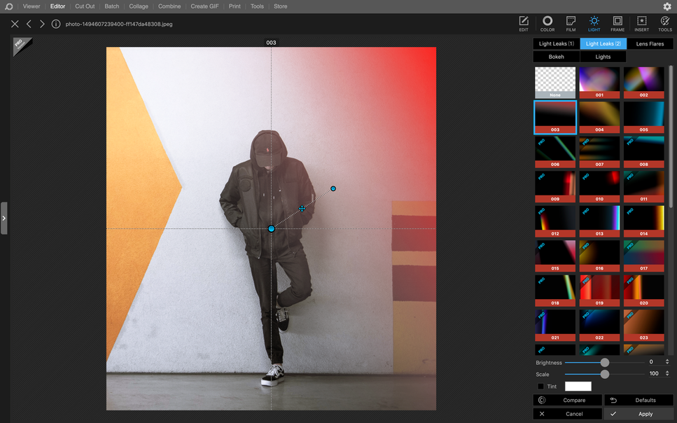 Photoshop Alternative PhotoScape-X screenshot
