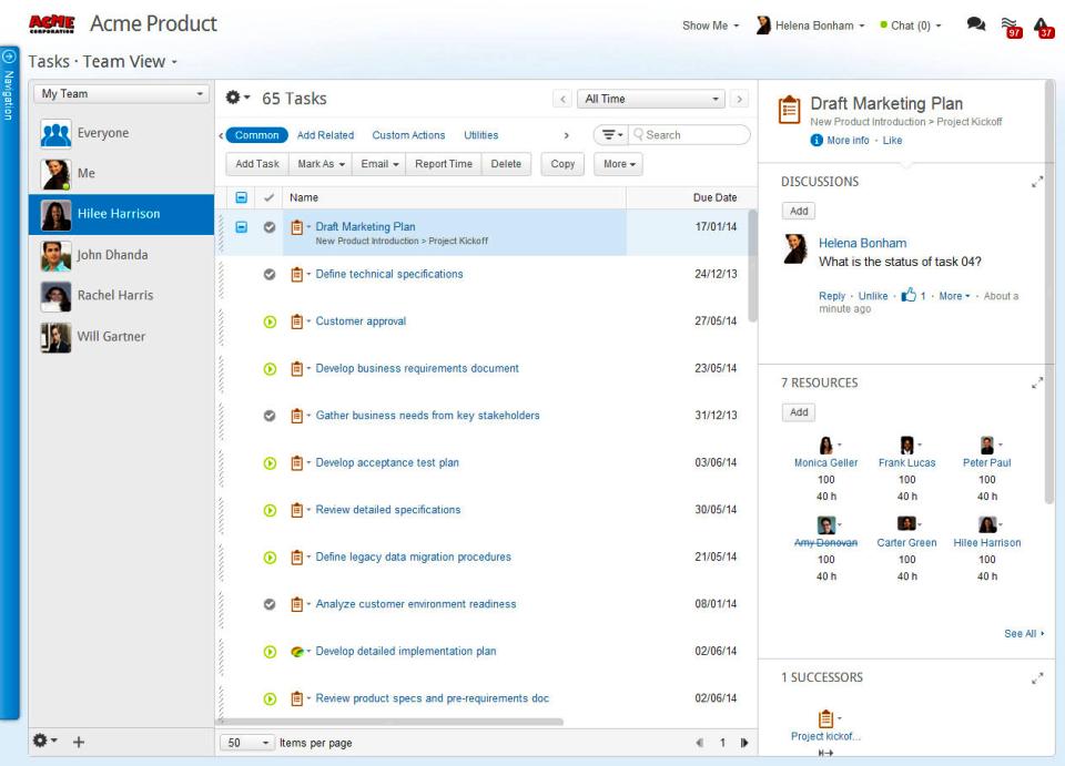 clarizen work flow management software