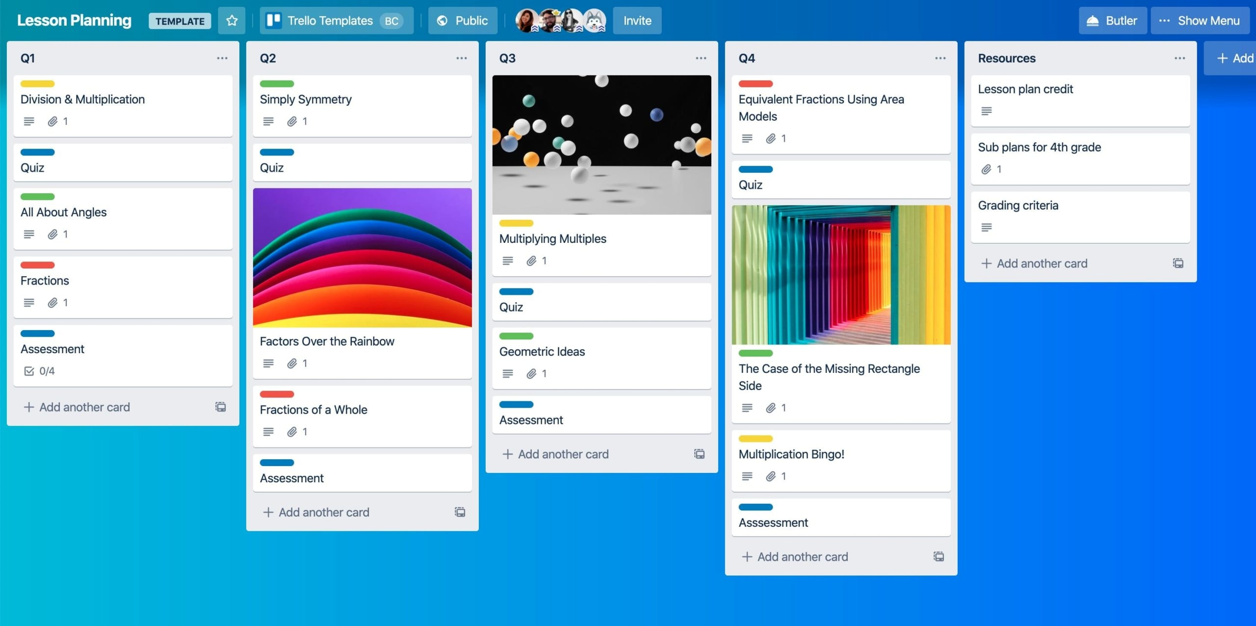 Trello education features