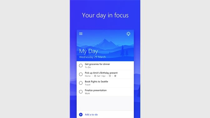 Microsoft To-Do daily planner