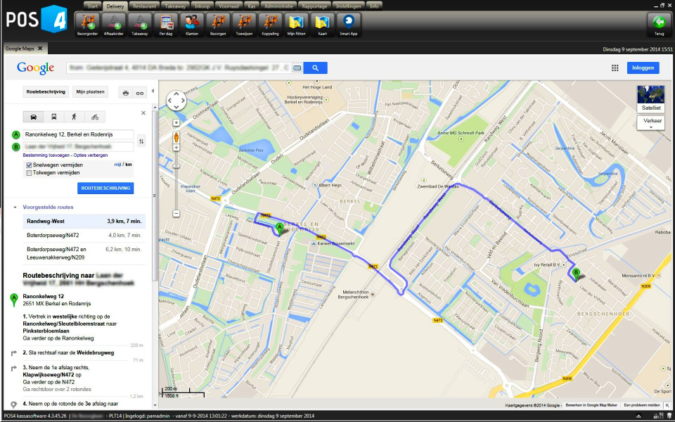 Google maps integratie