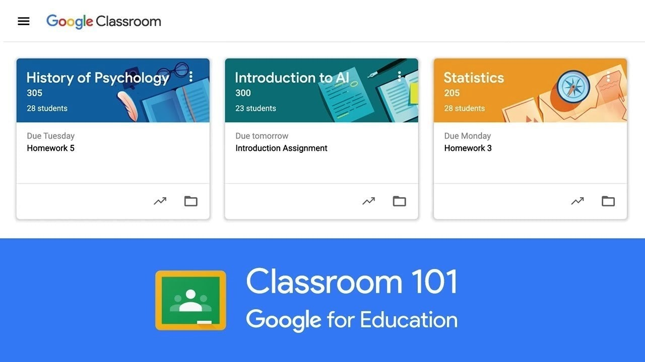 Come fare una lezione a distanza: interfaccia di Google Classroom 101