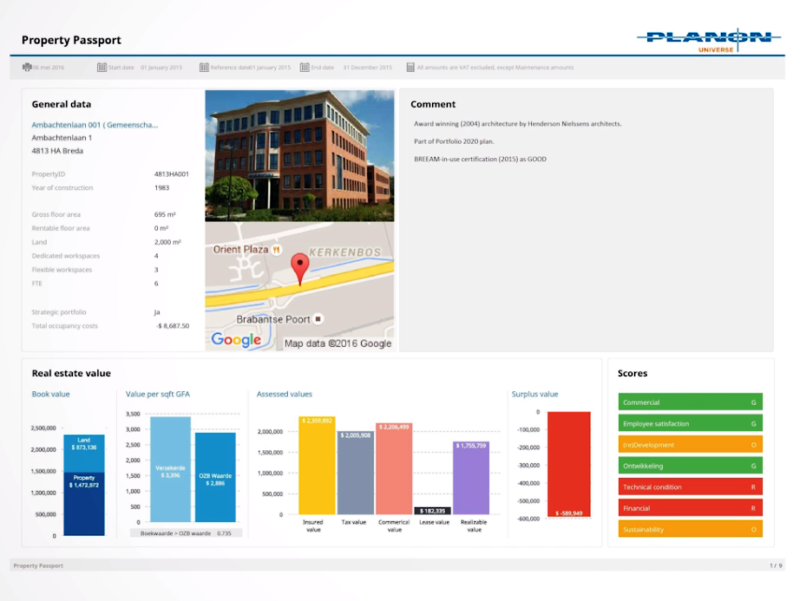 Planon facility management systeem