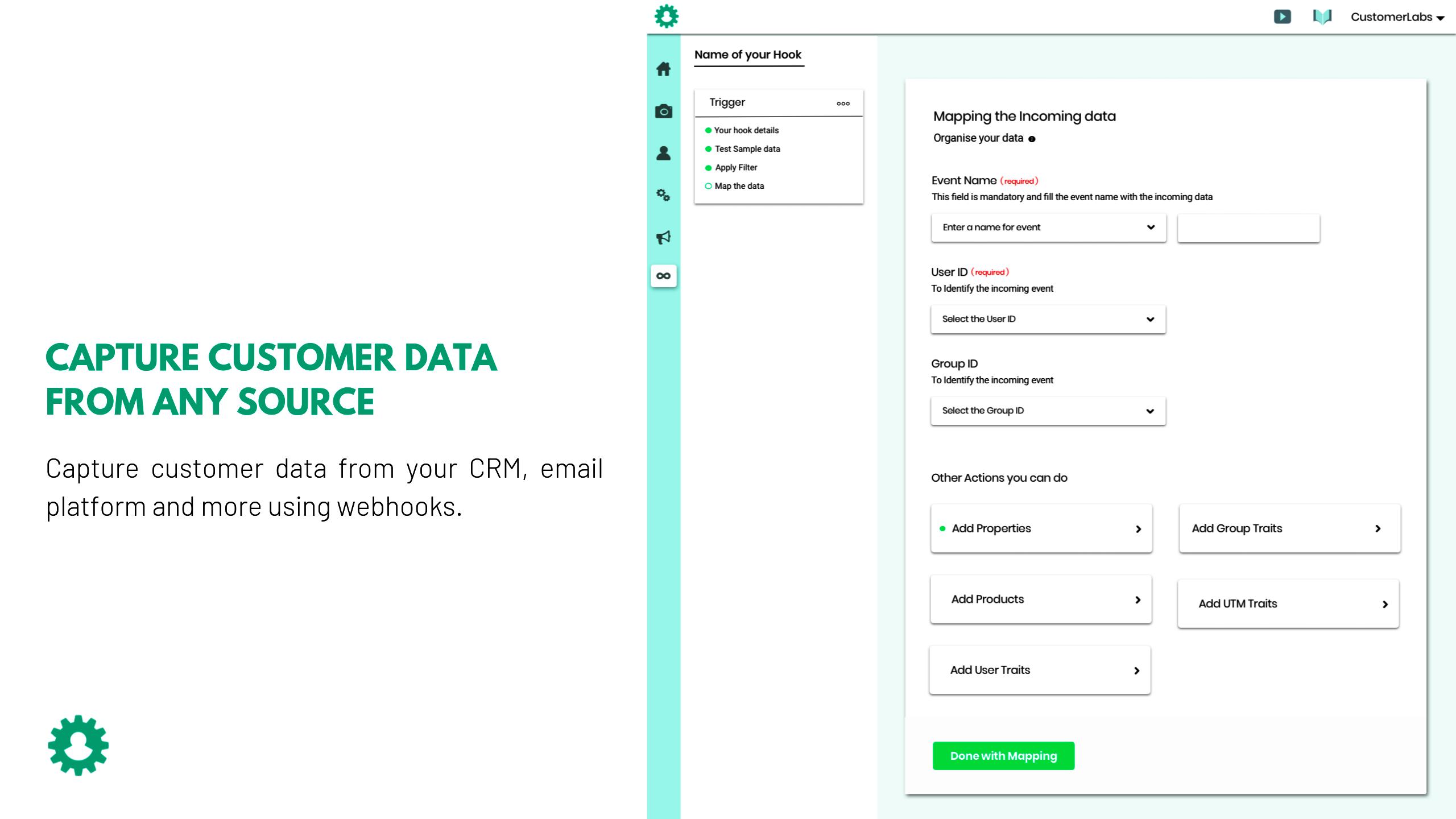 Erfassung und Zuordnung von Kundendaten aus mehreren Quellen