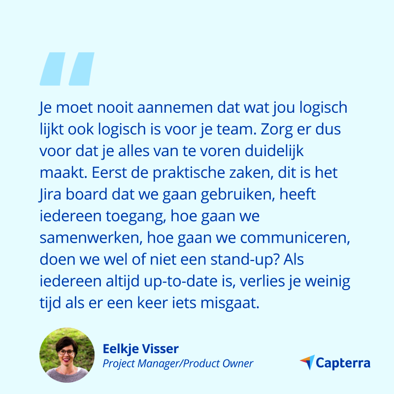 project management tips Eelkje visser