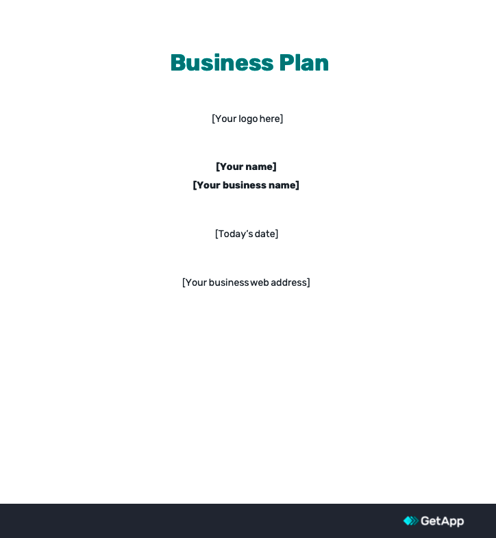 a business plan template for startups in the UK