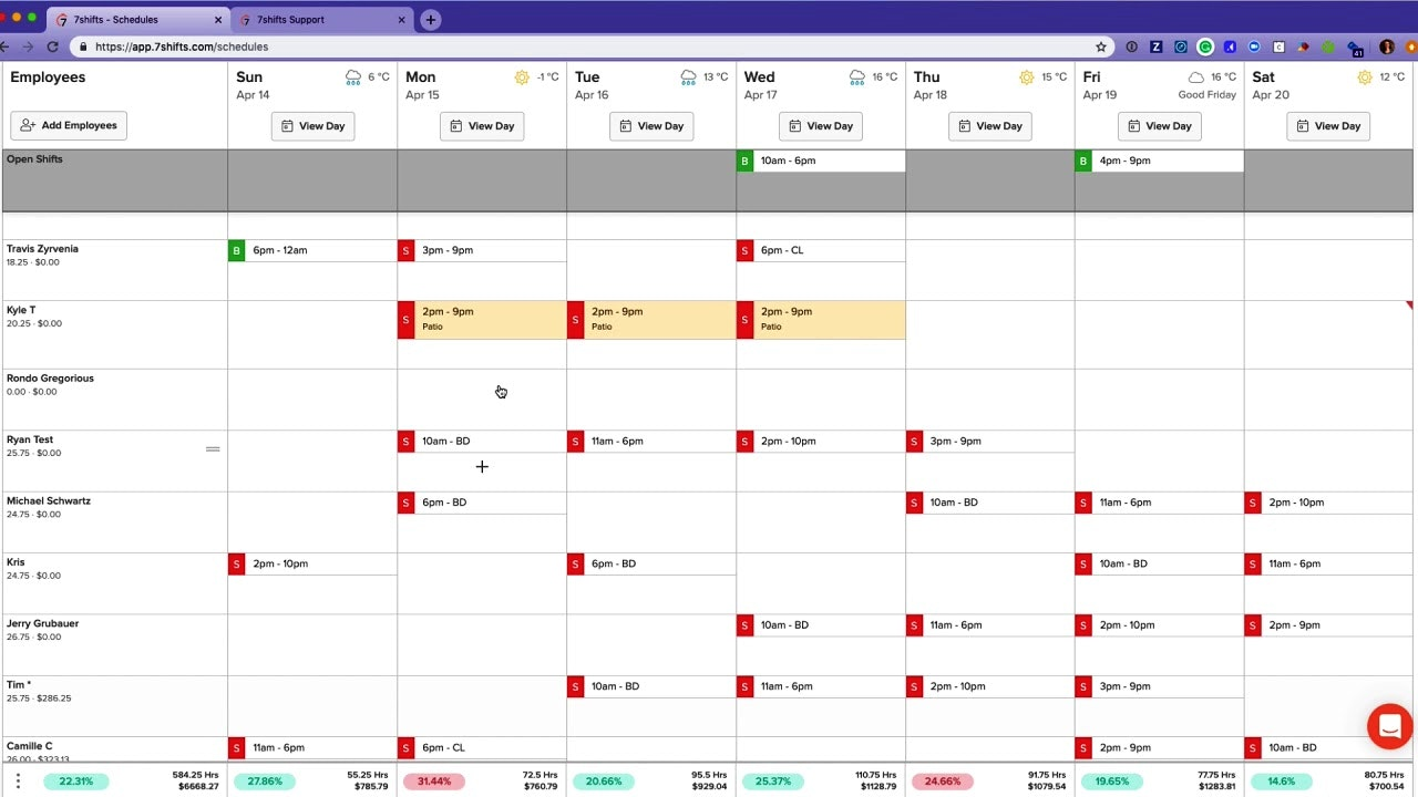 7Shifts scheduling tool