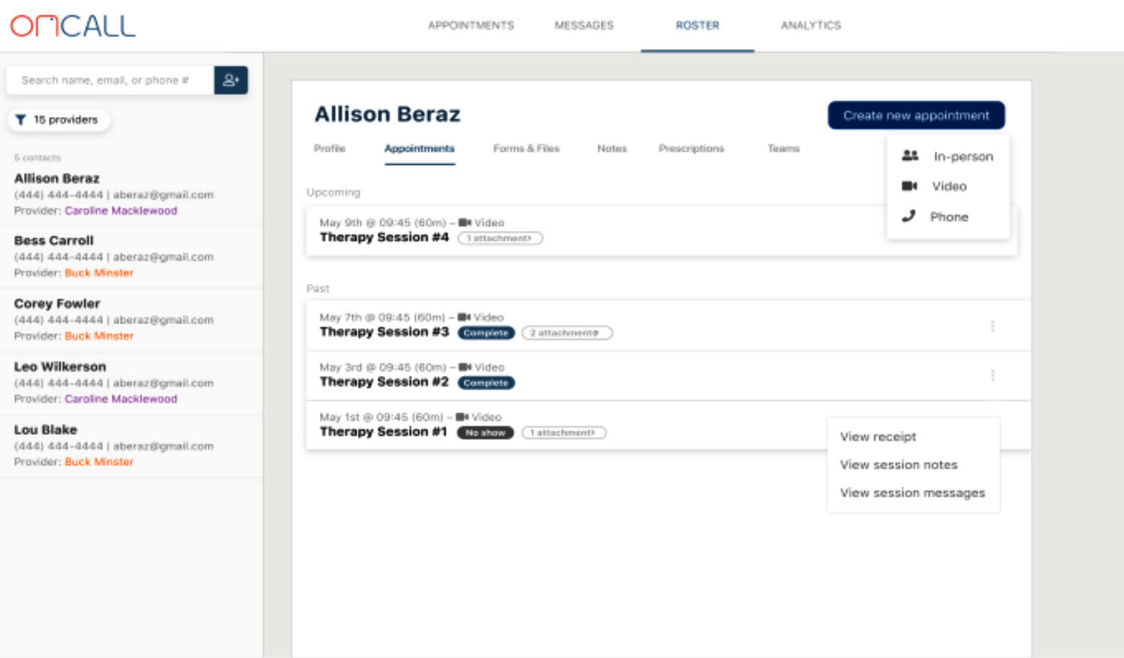 OnCall Health patient records